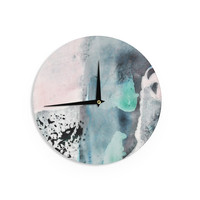 "Iris Lehnhardt ""Abstract Color"" Pastel Painting Wall Clock"