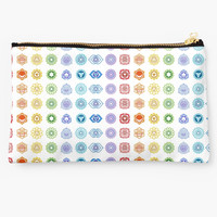 'Rainbow Chakras' Studio Pouch by phantastique