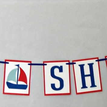 Sailing Baby Shower Banner