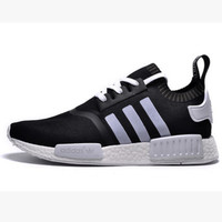 "Women ""Adidas"" NMD Boost Casual Sports Shoes Black white stripe"