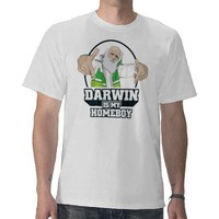 Darwin Is My Homeboy atheist shirt from Zazzle.com