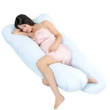 New Straight Maternity big U Body Pillows For Pregnanct Women Pregnancy Pillow For Side Sleeper Removable Eld Pregnanct Pillow