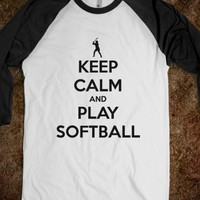 Keep Calm and Play Softball tee t shirt