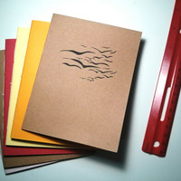 Birds in Flight Notebook - journal, staple bound, multipack