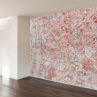 Roman Map Wall Mural Decal