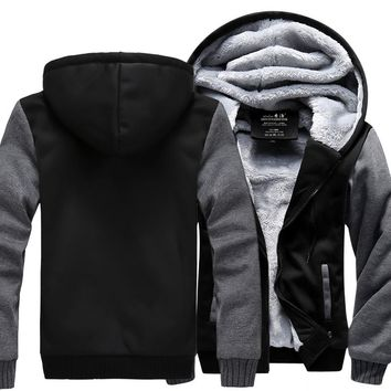 High Quality Men Thicken Hoodie Women Anime Zipper Coat Jacket Sweatshirt Cosplay Costume Plus Size