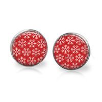 Snowflake Earrings Snowflake Jewelry Christmas Earrings Studs Christmas Jewelry Xmas Earrings Xmas Jewelry Holiday Earrings Holiday Jewelry