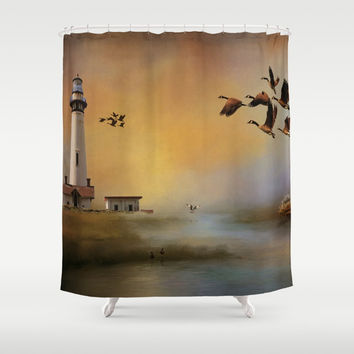 Homeward Bound Shower Curtain by Theresa Campbell D'August Art