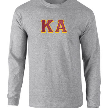 Kappa Alpha Twill Letter Long Sleeve Tee