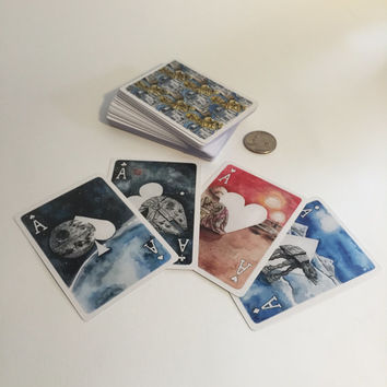 Star Wars Inspired Playing Cards - Watercolor Artist - Fan Art Cards