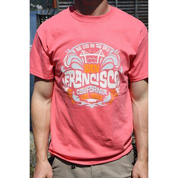 San Francisco California Est 1850 Short Sleeve T Crimson