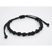 Ebony Twists Beach Macrame Bracelet
