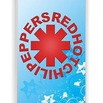 iPhone 4 Case - Rubber (TPU) Cover with Red Hot Chili Peppers 2 Rubber Case Design