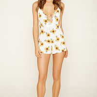 Sunflower Swim Cover-Up Romper | Forever 21 - 2000187412