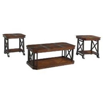 Vinasville Occasional Table Set Medium Brown (Set of 3) - Signature Design by Ashley