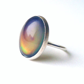 Sterling Mood Ring by proteales on Etsy