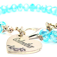 Godmother Heart Splash Of Color Crystal Bracelet