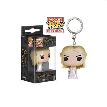 Funko POP Keychain Game of Thrones a Song of Ice and Fire Jon Snow Daenerys Targaryen Pocket POP Collection Key Chain Toy gifts