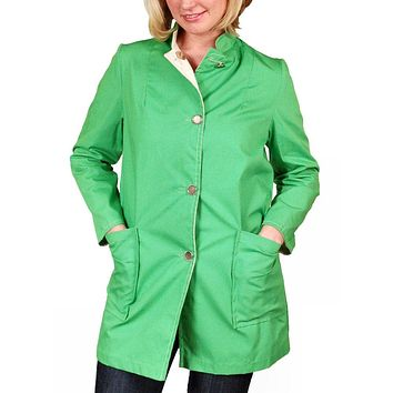 "Vintage Womens Coat Lime/Natural Reversible 1960'S 40"" Bust"