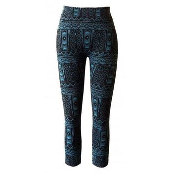 Girls Tribal Jacquard Leggings