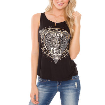 Love Free Top - Black