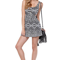 LA Hearts Cutout Fit N Flare Tribal Dress at PacSun.com