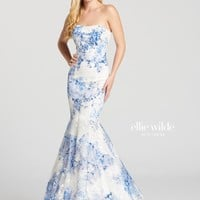 Ellie Wilde EW118111- White/Royal Blue