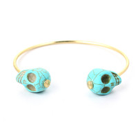 Skull End Cuff Bracelet  - Accessory - Retro, Indie and Unique Fashion