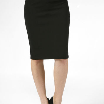 Career High Waist Straight Pencil Bodycon Midi Slim Skirt