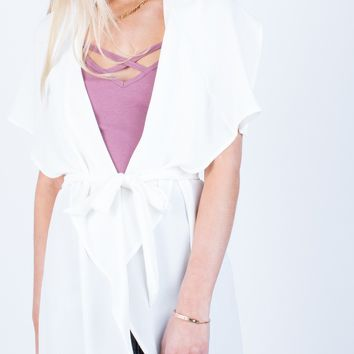 Flowy Drapey Trench Jacket