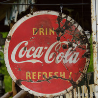 Rusty Coca Cola Sign 8 x 10 Art Photography by HandLPhotographyTN