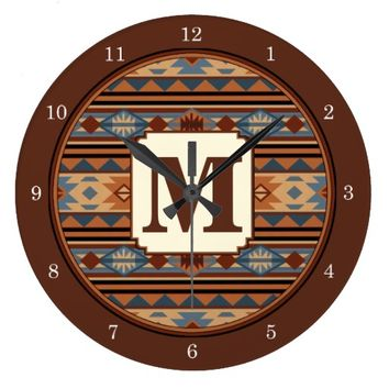 Southwest Design Gray Brown Wallclocks