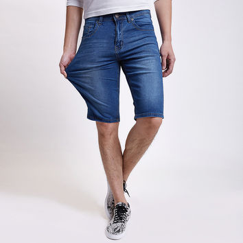 Summer Denim Men Plus Size Men's Fashion Big Size Pants Casual Shorts [6541368579]