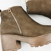 Pony Up Clog Boots - Taupe