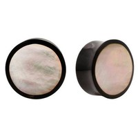 HORN & MOTHER OF PEARL EXOTIC ORGANIC SADDLE PLUGS