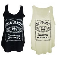 Jack daniels tank tops vest one size fits all by Sagarmatha