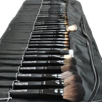 Beauties Factory 35pcs Full Makeup Brush Set (All-Time Artist Pure Black)