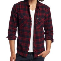 Elwood Clothing Men's Og Plaid Flannel Shirt, Red, Medium