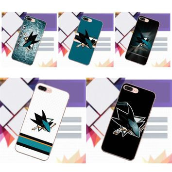 Vvcqod Soft TPU Fashion Phone Case For LG G2 G3 mini spirit G4 G5 G6 K4 K7 K8 K10 2017 V10 V20 V30 Nhl San Jose Sharks Team Logo