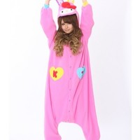 Hello Kitty Vivid Pink Rabbit Kigurumi Onesuit | Hello Kitty Vivid Pink Rabbit Kigurumi | Hello Kitty Vivid Pink Rabbit Costume - Animal Onesuits