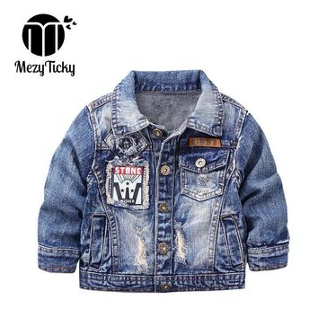 Trendy MezyTicky Boys Denim Jacket Windbreaker Cool Kids Parka Coat Clothing Children Winter Outerwear Toddler Canvas Jackets Clothes AT_94_13