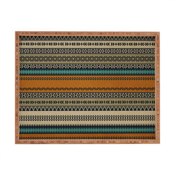 Viviana Gonzalez Textures Abstract 18 Rectangular Tray