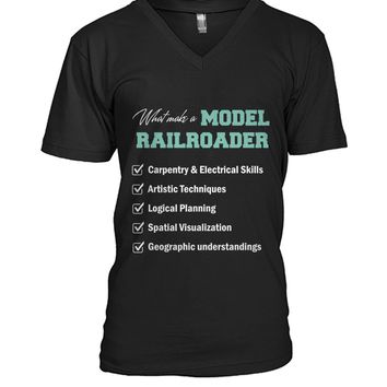 What make a model railroader shirt Mens V-Neck