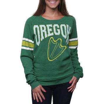 Oregon Ducks Women's Slouchy Pullover Sweatshirt - Green