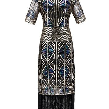 1920s Sequin Fringed flapper Dress