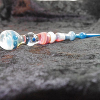 Silver Swirl - Marble Large Glass Dabber