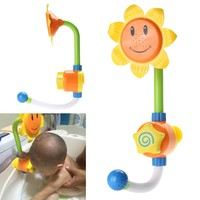 Sunflower Shower Faucet Baby Bath Watering Toys Children Sunflower Shower Faucet Bath Learning Toy Gift