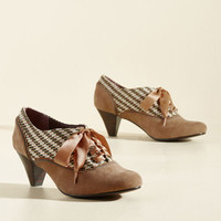 Poetic License Have a Great Teatime Heel in Chai | Mod Retro Vintage Heels | ModCloth.com