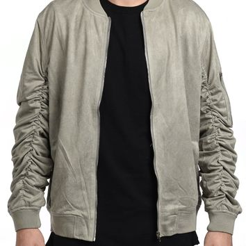 Suede Jacket in Gray