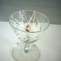 DAZZLING - Aurora Borealis Crystal Wrapped in Silver Wire